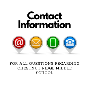 Contact information for any questions regarding Chestnut Ridge Middle School