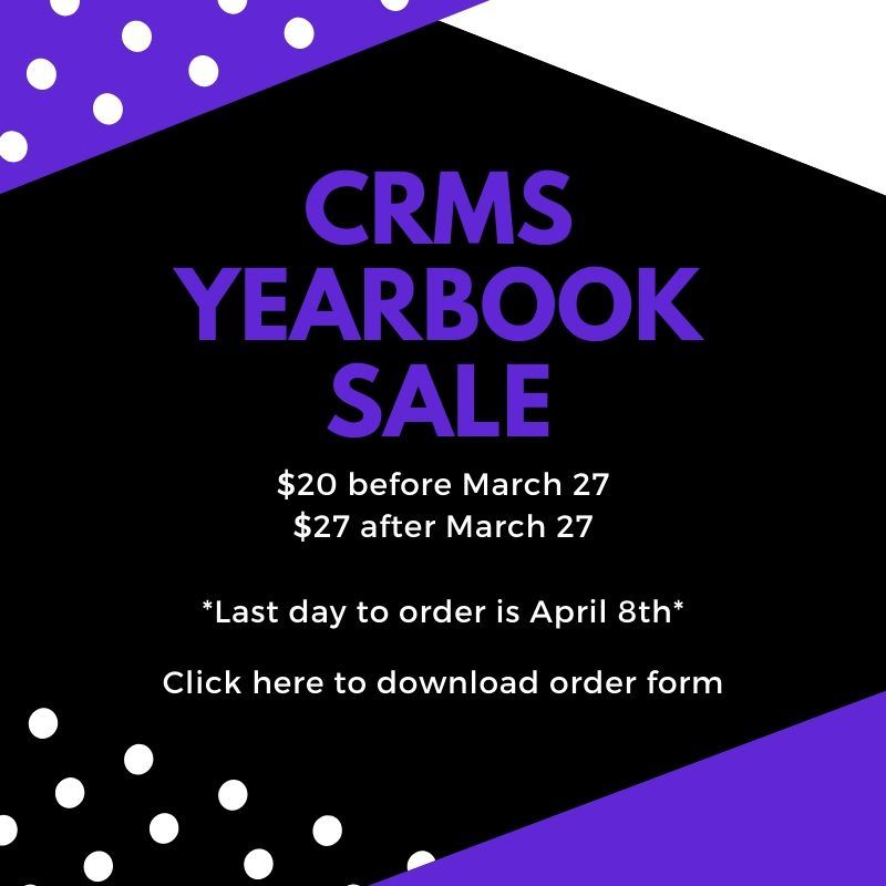 CRMS Yearbook Sale